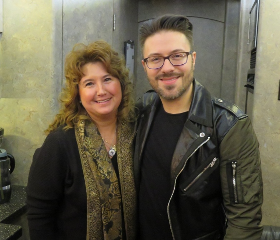 Anne Marie on the tour bus with Danny Gokey