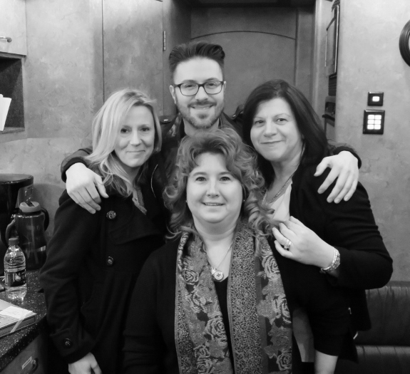 Danny Gokey with Carrie, Anne Marie & Maria