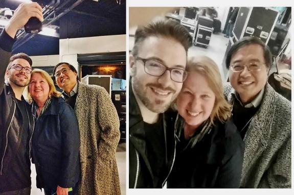 Danny Gokey takes a selfie with Jan, Hsing