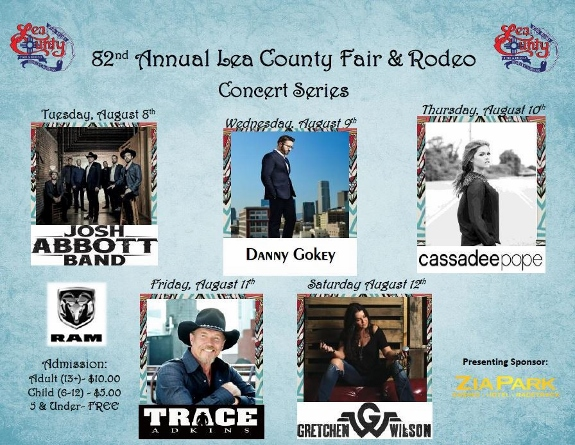 danny gokey to perform at the Lea County fair in Lovington NM