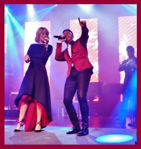 Danny Gokey and Natalie Grant perform at Celebrate Christmas