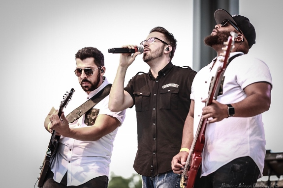 Danny gokey Band performs at the Indiana State Fair