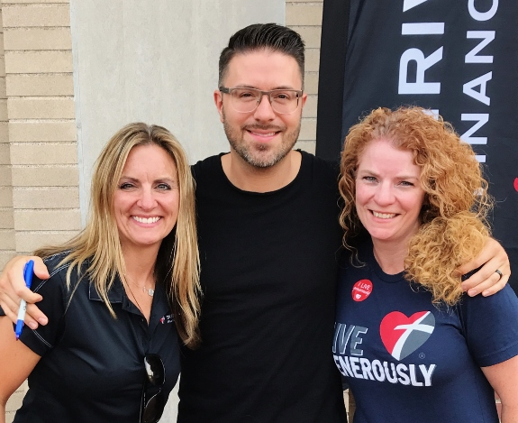 Danny Gokey with Thrivent Jodi and Pamela