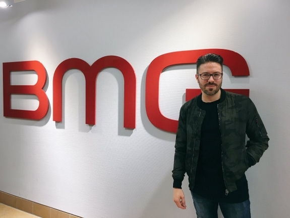 Danny Gokey at BMG Headquarters