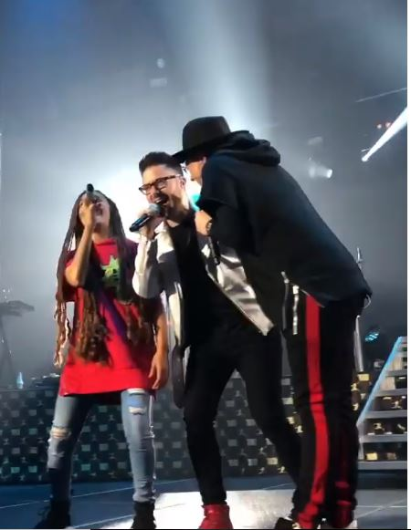 Danny Gokey with Toby Mac