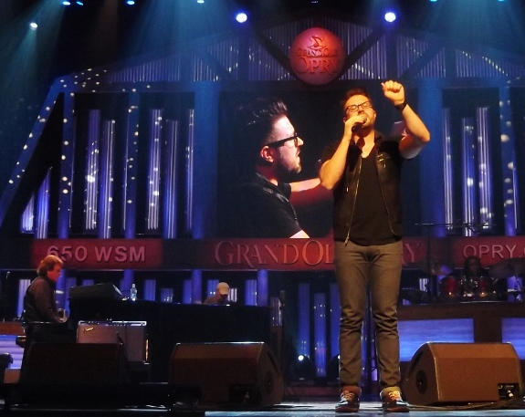 Danny Gokey performing at the Grand Ole Opry in 2013