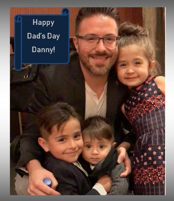 Danny Gokey and his children