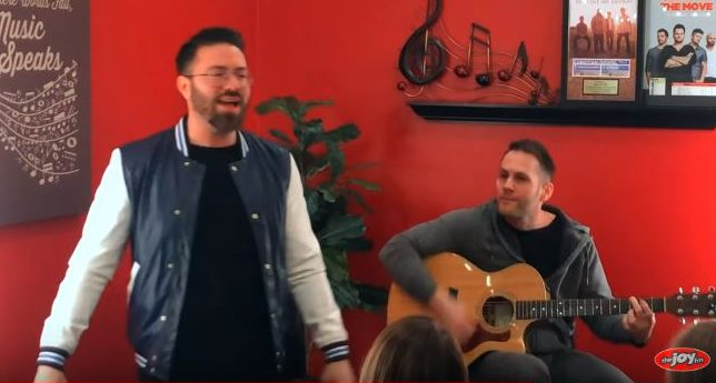 Danny Gokey sings HSIY in studio at JOY FM