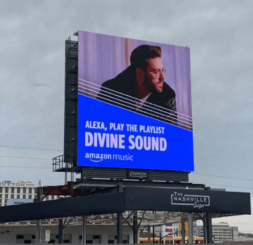Danny Gokey on Amazon Billboard Nashville