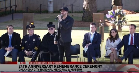 Danny Gokey performs at the OKC memorial