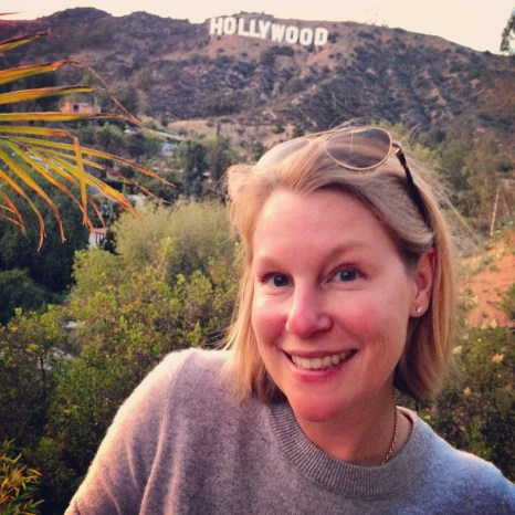 Jenny in Hollywood, the eve of our departure.
