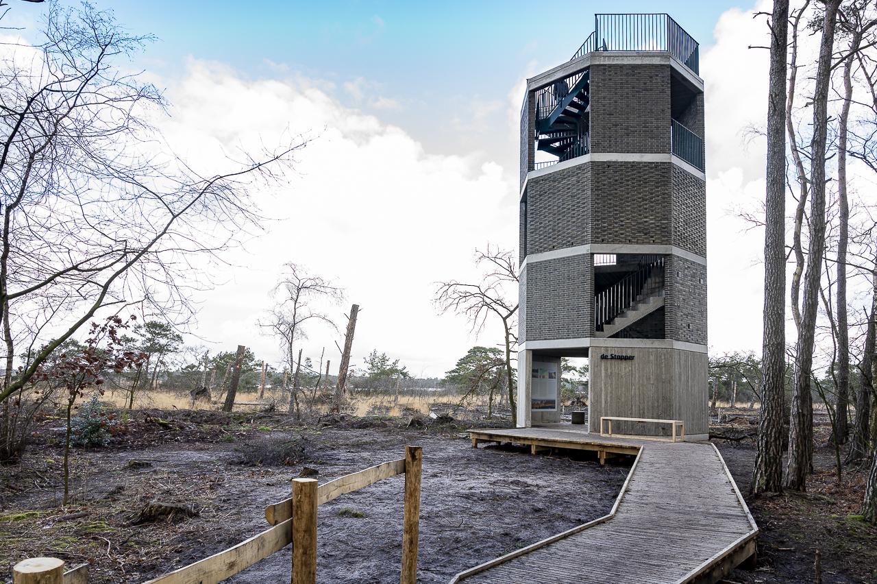 Kalmthoutse Heide, uitkijktoren De Stapper aan het Stappersven