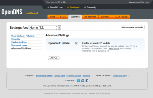 OpenDNS Advanced Settings