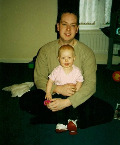 Being a first time parent - My eldest daughter, Charisma, aged 11 months with me.