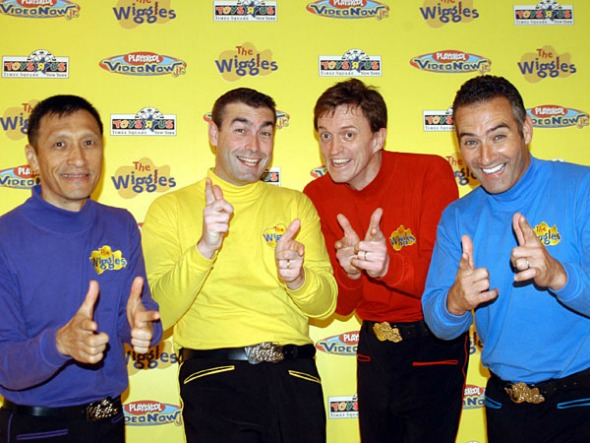 The Wiggles give kids giggles