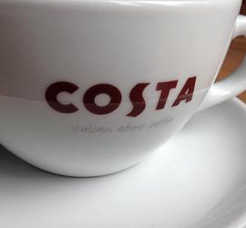Coffee shop karma – Costa Coffee cup