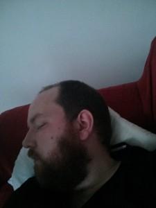 Shattered - Bearded Man asleep