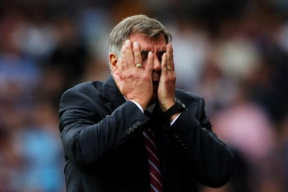 "Allardyce adopts that standard West Ham FA Cup tie pose - Image taken from the article ""The magic of the FA Cup"" by DannyUK.com"