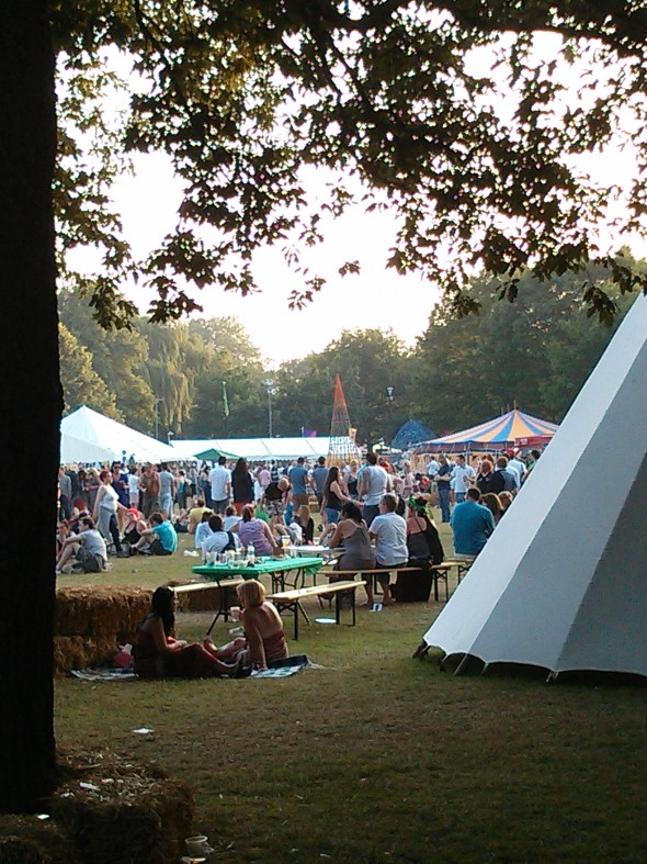 A view across the Chelmsford Fling Festival.