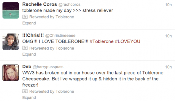Tobleronly another self-promoting bunch of tweets.