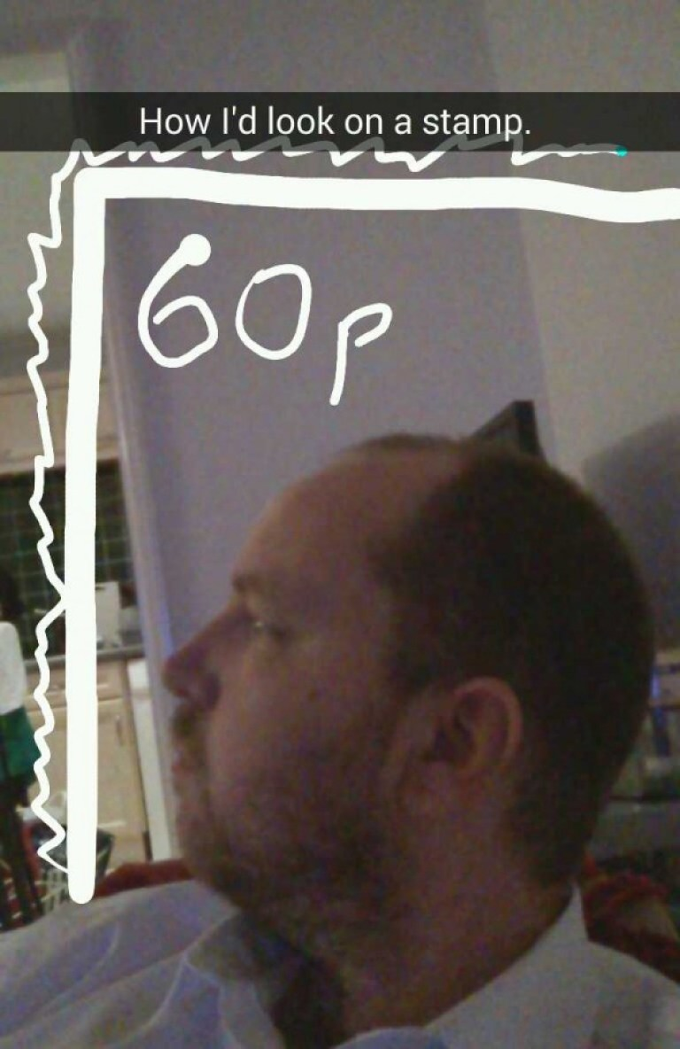 Dan as a postage stamp - Taken from an article titled Snapchat pictures by DannyUK.com