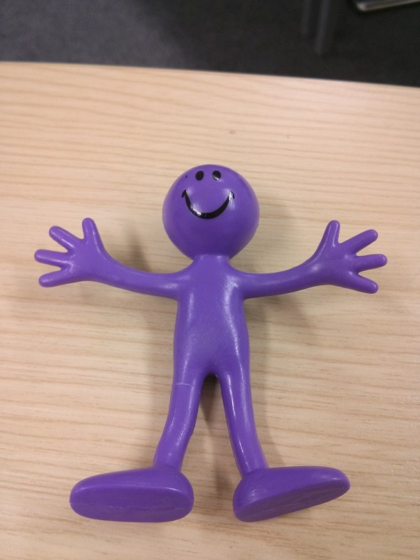 My Sunday Photo - Purple rubber man