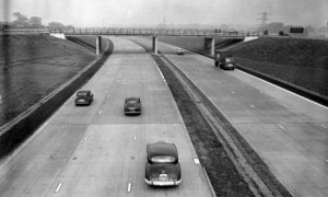 The M1 motorway when it first opened in 1959. Taken from an article by DannyUK.com