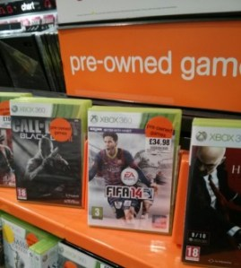 FIFA 14 – Pre-owned and buying second hand.