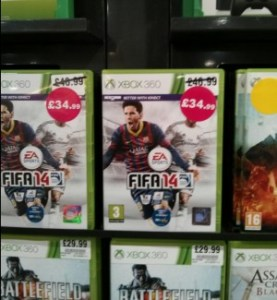 FIFA 14 – New, rather than pre-owned and buying second hand.