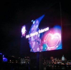 Durex Embrace light show
