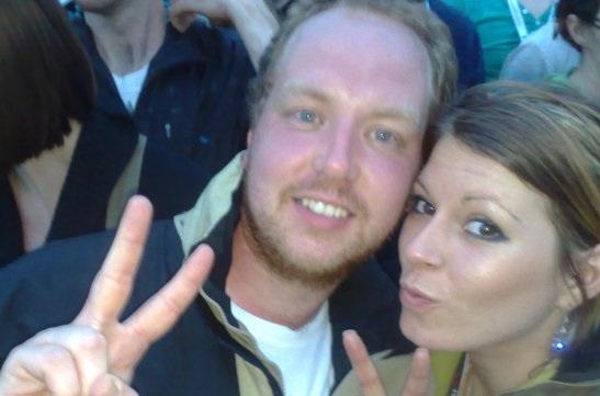 Dan and Tasha at V Festival 2008 - Taken from Golden Showers, a blog post on DannyUK.com