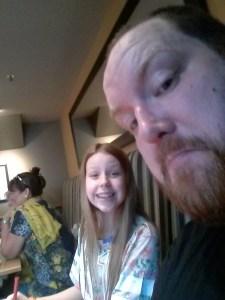 Silent Sunday – 11 – Dan and eldest selfie – 2014-03-08 13.21.52