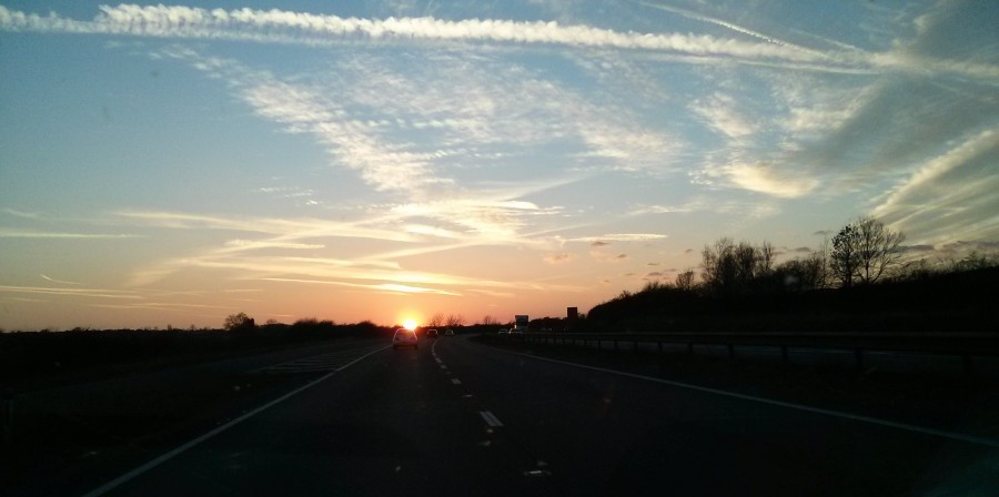 Silent Silent and My Sunday Photo - Sunset as driving