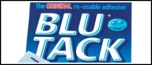 Blu Tack header