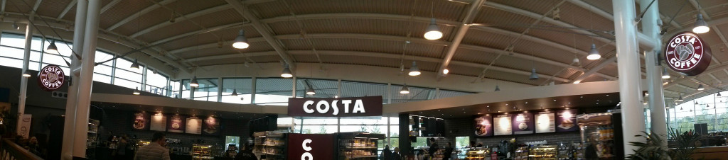 Largest Costa Coffee in Norton Canes - panoramic. Taken from an article by DannyUK.com