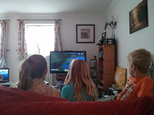 Kids - Engrossed by Minecraft