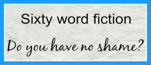 Sixty Word Fiction Do you have no shame 700×300