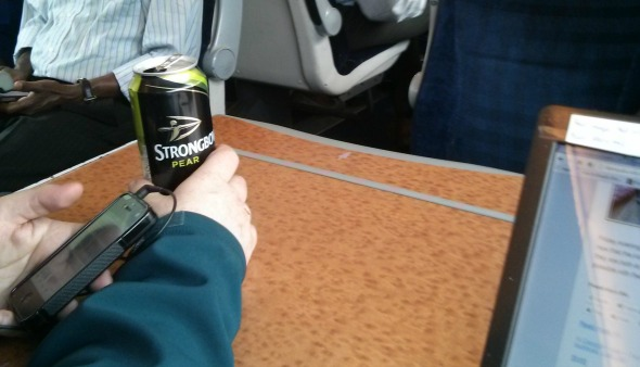 Train journey to Liverpool - Strongbow on the train - Taken from an article by DannyUK.com