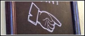 Finger point drawn in chalk