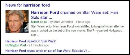 Harrison Ford injury – Video