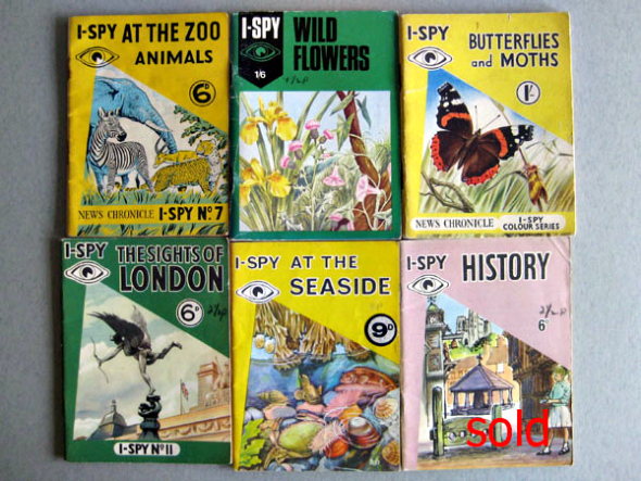 i-spy books - How they used to look - Taken from an article by DannyUK.com. Original image taken from vintage-treasures.co.uk, with thanks.