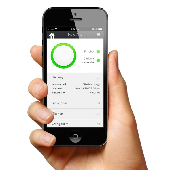 Nest Protect Smoke & Carbon Monoxide detector - Smartphone app
