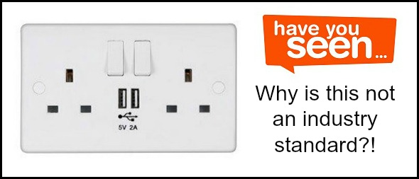 Plug sockets with USB built in