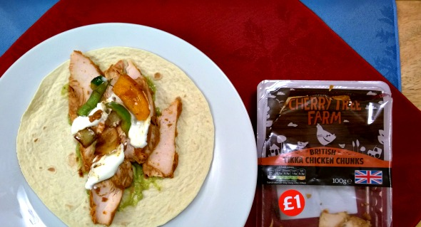 Cherry Tree Farm Tikka Chicken Chunk wrap