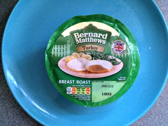 A Bernard Matthews Christmas dinner - Turkey Breast Roast packaging. Taken from an article by DannyUK.com