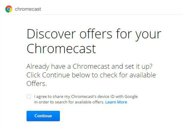 Free Chromecast offers - taken from an article by DannyUK.com