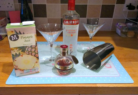French Martini - Ingredients
