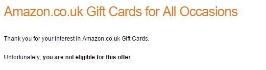 Amazon free £10 voucher offer