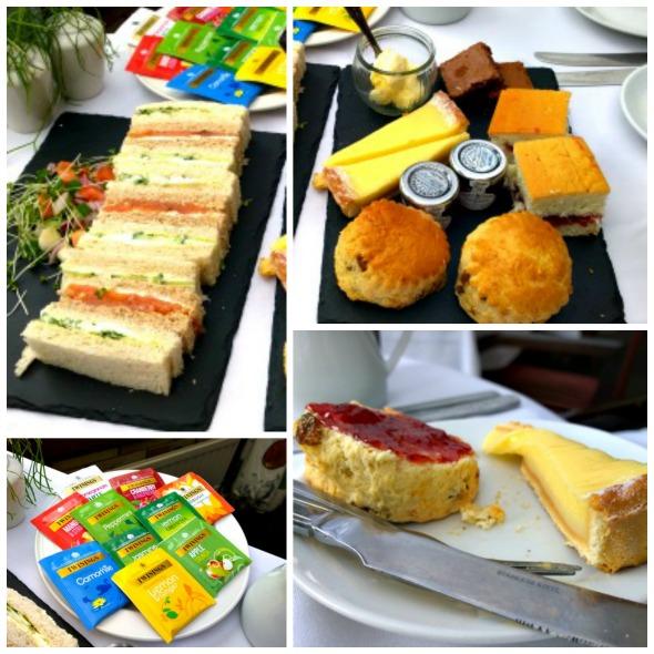 Brook Mollington Banastra Hotel & Spa afternoon tea collage