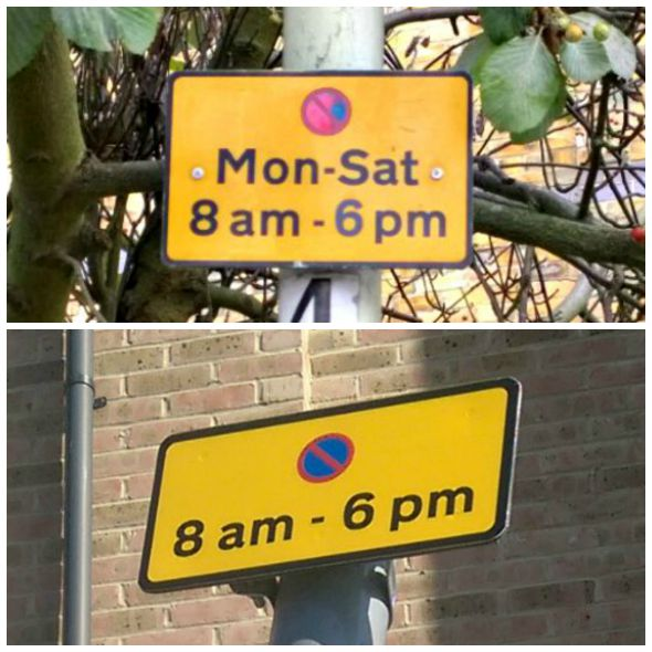 Parking in Wharf Road Chelmsford - Parking times